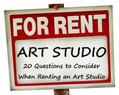 20 Questions to Consider When Renting an Art Studio 20 Questions, This Or That Questions, Renting, Career, Studio, Tips, Art, Art Background, Carrera