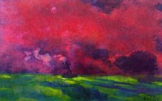 Emil Nolde   Green Sea under Reddish-brown Sky (also known as Two Steamers) Emile Nolde