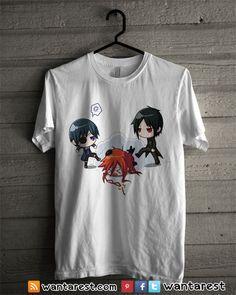 Black Butler Anime t-shirts unisex Only $17 ship to worldwide, available size S to 2XL. #BlackButler #Michaelis #Phantomhive #Anime #Shirt #Otaku #Cosplay #Clothing #Tshirt
