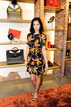 Leigh Lezark at the opening party for the new Fendi boutique in Miami's Design District wearing Fendi Resort16
