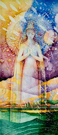 Our Lady of Everything    Mother Earth, Goddess, Gaia, Pachamama, Nature, Grandmother, Hera, Isis, Demeter, Parvati, Shakti, Gayatri, and Mary are a few names which try to describe life force energy.   Evokes: Gratitude for Life