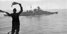 Kriegsmarine battleship KMS Bismarck taken from Prinz Eugen 02