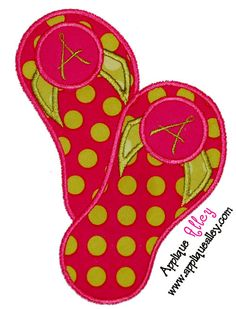 A to Z Flip Flops Applique for tshirts and by DesignsbyMichelleL, $22.00