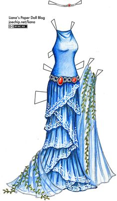 Halloween '10 Day 5: Queen of the Seas | Liana's Paper Dolls