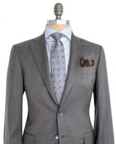 Image of Isaia Solid Grey Suit