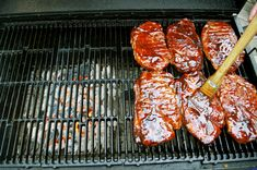 An explanation of what exactly a pork steak is as well as how to perfectly prepare them on the grill, slathering them with a gooey BBQ sauce. | A Midwestern BBQ Staple – Pork Steaks | https://grillinfools.com