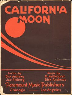 California Moon, 1951 sheet music cover (via LAPL visual collections)