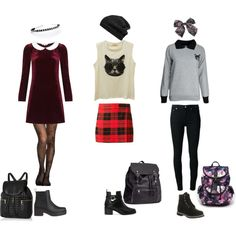 """""""Edgy Back to School outfits - my style"""" by happy-fashionx on Polyvore"""
