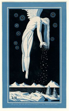 Rockwell Kent, Christmas card I used this image as my Ex Libris. Rockwell Kent, Ex Libris, Art And Illustration, Vintage Christmas Cards, Vintage Cards, Merry Christmas, Pinturas Art Deco, Moby Dick, Kunst Poster