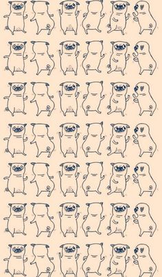 wallpaper of pugs discovered by sticky soul on We Heart It Wallpaper Pug, Wallpaper For Your Phone, Cool Wallpaper, Pattern Wallpaper, Iphone Wallpaper, Dance Wallpaper, Cute Backgrounds, Phone Backgrounds, Cute Wallpapers
