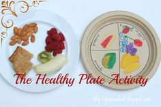 The Healthy Plate at Green Owl Art. Learning about portions and good eating habits with this art/health activity is fun AND delicious!