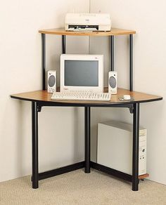 23 best small corner computer desk images corner computer desks rh pinterest com