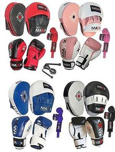 New pro #boxing #gloves and pads leather curved #focus pads punch bags rope & wra,  View more on the LINK: http://www.zeppy.io/product/gb/2/191583458278/