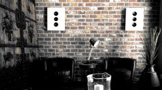 This artistic, dramatic picture, taken from Housing Fair 2015 Vantaa, shows how Sonolux Bebop 2 on wall speakers can complement an existing interior, without dominating it. Other furniture are from Aada Sisustus. Picture taken by Lars Kastilan Modern Loft Apartment, In Wall Speakers, Home Cinemas, Photo Wall, Interior, House, Furniture, Design, Home Decor