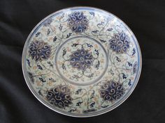 Antique Chinese Porcelain Guangxu Lotus Plate 6 7/8""