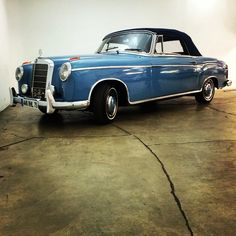 1956 Mercedes 220S Cabriolet $79,500!! For sale now at www.beverlyhillscarclub.com!