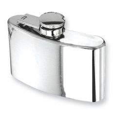 Polished Stainless Steel Hip Square Flask - Engravable Personalized Gift Item: StyleName: JGL8815