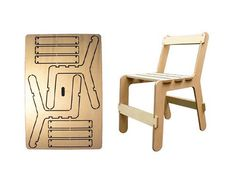 Ben Wilson has designed the Chairfix, a chair you can customize any way. The chair is cut from a flat plywood sheet, and the 2d parts are assembled into a