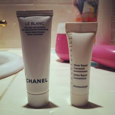 chanel le blanc face cleanser, chantecaille stress relief concentrate