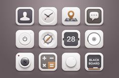 White Winter Icons by Sunbzy on Creative Market