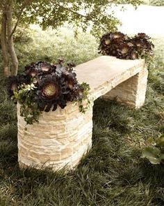 I would love to try to make this out of hollowed out stumps =] or at least try!!