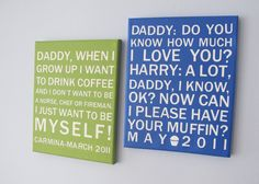 Your kids' actual quotes as art... what a great idea!