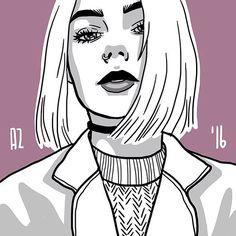@polusladkoye ✏️ #art #artist #anizolotce #draw #drawing #paint #painting #sketch #sketching #portrait #girl #myart