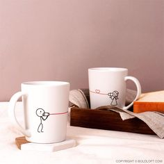"""BoldLoft Say I Love You Couple Coffee Mugs- Everyone needs a little reminder during the day of their lover, and these """"his and hers"""" mugs will remind you both of what's on the other end of that line! Whether you are together or a distance apart, they are perfect for reminding you both to say I love you each and every night and each and every day."""