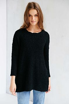 Glamorous Side-Zip Tunic Sweater - Urban Outfitters