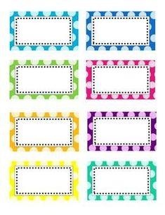 Editable Bright Polka Dot Labels