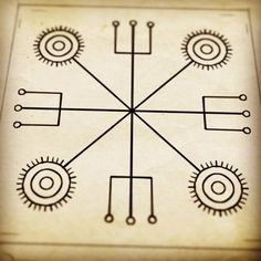 Méraðsjá - Stavsigil to help visualize and share a perception or understanding of an object or situation with another person. Wiccan Symbols, Sacred Symbols, Viking Symbols, Ancient Symbols, Egyptian Symbols, Norse Runes, Viking Runes, Vikings, Vegvisir