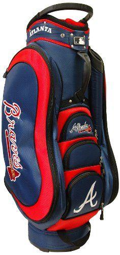 MLB Atlanta Braves Medalist Cart Golf Bag, Navy