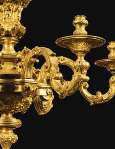 c1730 A GILT-BRONZE SIX LIGHTS CHANDELIER, RÉGENCE, CIRCA 1730 Estimation 100,000 — 150,000 EUR 113,888 - 170,832USD Lot. Vendu 137,500 EUR (156,596 USD) (Prix d'adjudication avec commission acheteur) Paris Opera House, Autumn Interior, Modern Art, Contemporary, Bronze Chandelier, Wall Lights, Ceiling Lights, Antique Furniture, Light Fixtures