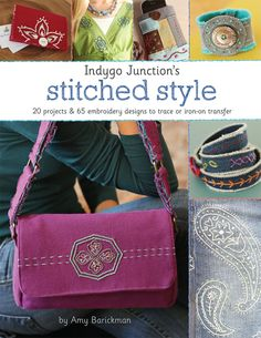 Tea Towel Embroidery Project from Indygo Junction's Stitched Style + Giveaway | Sew Mama Sew |: stitch diagrams and pretty pictures fr my fave designers