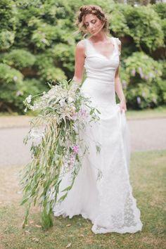 Greenery Cascading Bouquet
