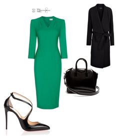 """""""Work"""" by cgraham1 on Polyvore featuring Christian Louboutin, Miadora and Givenchy"""