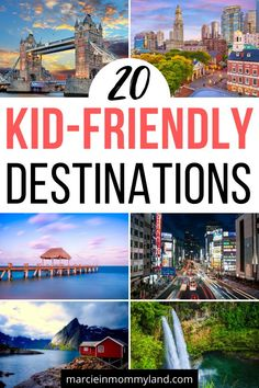 Starting to plan your family vacation and looking for amazing kid-friendly travel spots? Find out my top 20 places that are perfect for traveling with kids all over the United States and the world…More Kid Friendly Vacations, Best Family Vacations, Family Vacation Destinations, Vacation Deals, Vacation Trips, Family Travel, Travel Destinations, Best Vacations For Kids, Affordable Vacations