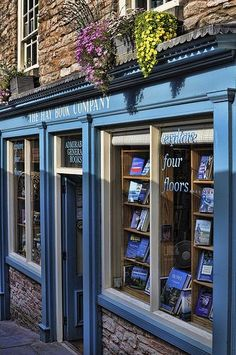 A typical English bookshop (image courtesy of Mooganic) A unique travel theme: a bookstore tour of England. Tours Of England, Beautiful Library, Book Cafe, Home Libraries, World Of Books, Shop Fronts, Library Books, Reading Books, Travel Themes