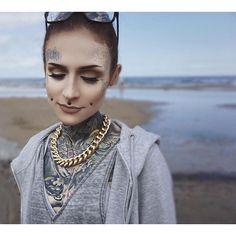Monami Frost @monamifrost Instagram photos | Websta Tattoed Women, Tattoed Girls, Sexy Tattoos, Girl Tattoos, Tatoos, Cheek Piercings, Ink Model, Full Body Tattoo, Monami Frost
