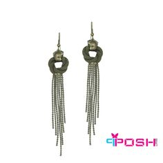 POSH Melia - Earrings - Multi-strand earrings dangling from chain loops - Gun metal colour - Dimension: x POSH by FERI - Passion for Fashion - Luxury fashion jewelry for the designer in you. Monogram Earrings, Fashion Jewelry, Women Jewelry, Selling On Pinterest, Dangle Earrings, Jewellery Earrings, Ladies Boutique, Stones And Crystals, Passion For Fashion