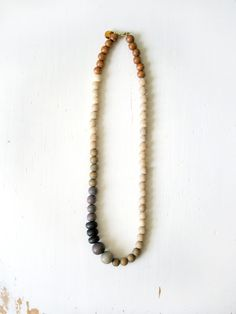 Bead necklace with natural colors -- Inspiration only