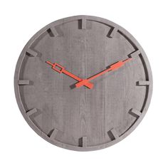 A stunning concrete wall clock.It looks like wood, but it's definitely concrete, slim concrete, but concrete nevertheless. It is the brainchild of Italian designer Alessandro Zambelli and features contrasting metal hands. ALL SCOTLAND CUSTOMERS: Additional shipping fees will apply so please contact me via the 'Ask seller a question' button before placing an order to discuss.Cement55cm diameter