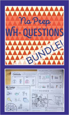 No Prep Wh- Questions: Who (Print and Go Homework Worksheets ...