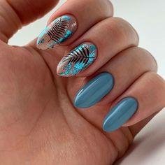 Shellac Nails, Acrylic Nails, Homecoming Nails, Homecoming Makeup, Dream Nails, Nagel Gel, Stylish Nails, Almond Nails, Blue Nails