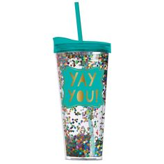 Yay You Confetti Tumbler #accessories #drinkware #home #new #spring-break #under-40