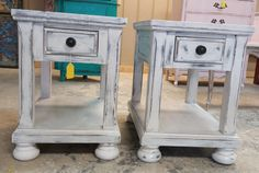 """This set is versatile! You could use them as nightstands but you could also use them as end tables. Where would you put them?  The dimensions are 26"""" L, 19"""" W, 26"""" H. SOLD!! for $275"""