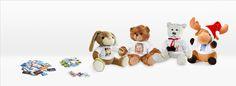 Zu Ostern Stofftiere selbst bedrucken und Freude schenken Foto Memory, Teddy Bear, Toys, Animals, Easter Bunny, Stuffed Toys, Cuddling, Glee, Searching