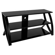 Calico Designs Stiletto 3 Tier Glass Tv Stand For Most Flat Panel