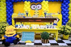 Decoração de Festa dos Minions Birthday Party Ideas