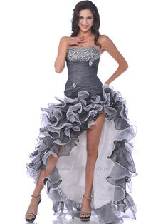 Sparkling High Low Ruffle Prom Dress. Get yours today at www.SungBoutiqueLA.com